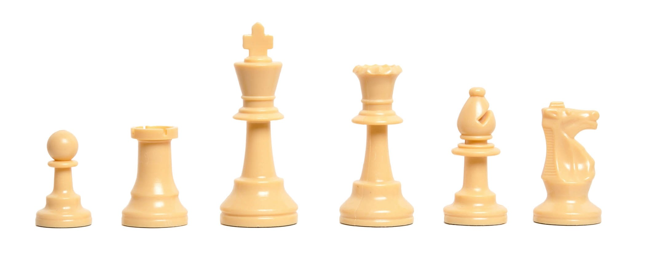 "3.75/"" King Regulation Silicone Chess Tournament Half Set Natural"