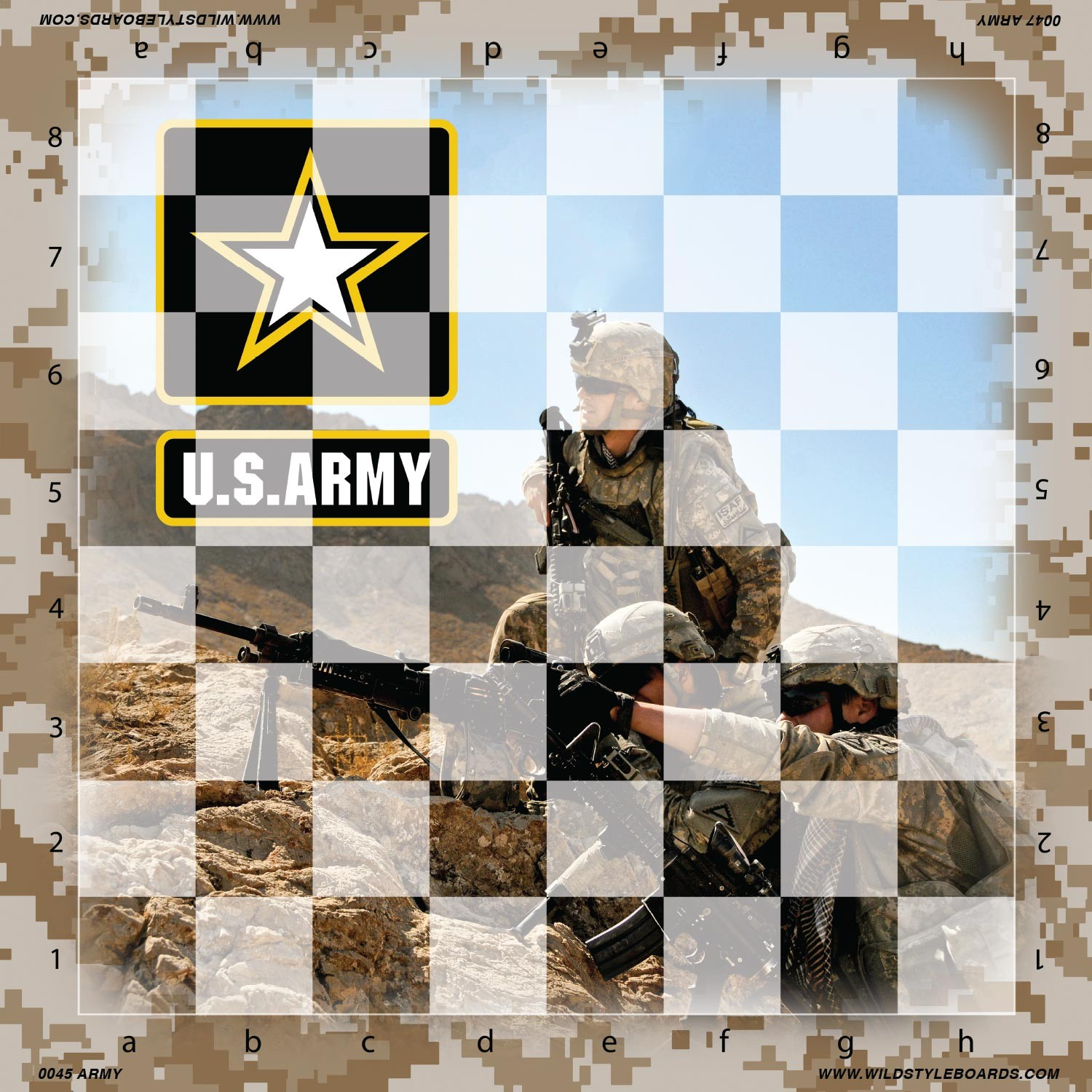 United States Army Full Color Vinyl Chess Board