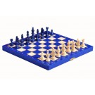 The Blue Magnetic Chess Set