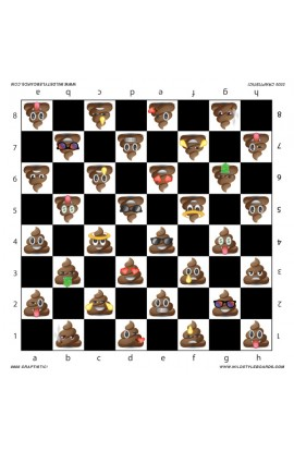 Craptastic - Full Color Vinyl Chess Board
