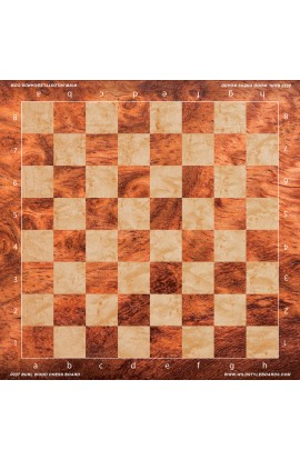 Burl Wood Chess Board - Full Color Vinyl Chess Board