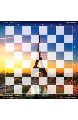 Eiffel Tower - Full Color Vinyl Chess Board