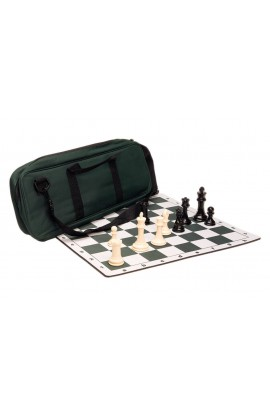 Premium Chess Set Combo - Plastic Chess Pieces | Tournament Chess Board | Deluxe Chess Bag