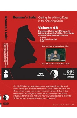 E-DVD ROMAN'S LAB - VOLUME 48 - Complete Universal f4 Systems for White Against the Sicilian Fianchetto