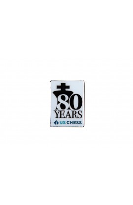 US Chess Federation 80th Anniversary Pin