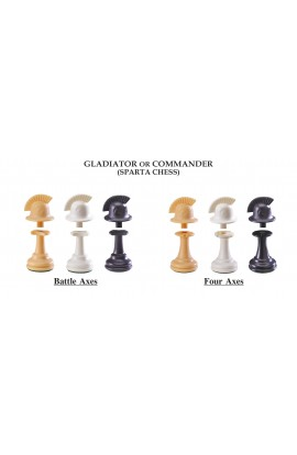 """The Next Gen Pawns Plastic Chess Pieces - 3.75"""" King - Commander Variation"""