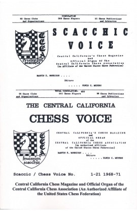 Scaccic / Chess Voice No. 1-21 - 1968-1971