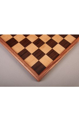 Superior Traditional Wood Chess Board - Indian Rosewood / Maple / Mahogany