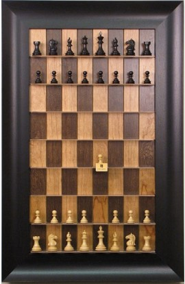 Straight Up Chess Board - Cherry Bean Series Board with Wide Scoop Frame