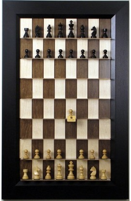 Straight Up Chess Board - Maple Nut Series with the Flat Black
