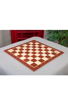 """2.0/"""" With Notation /& Logo USCF Sales Maple /& Mahogany Wooden Chess Board"""