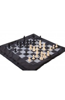 Analysis Chess Pieces and Cinch Chess Board Bag Combo
