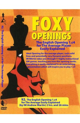E-DVD FOXY OPENINGS - VOLUME 92 - The English Opening for the Average Player