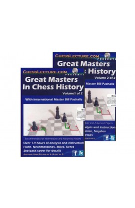 Great Masters in Chess History (2 DVD Set) - Chess Lecture - Volume 45
