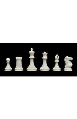 """The Fischer Series Plastic Chess Pieces - 3.75"""" King"""