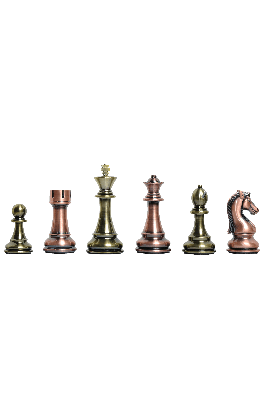 """The Candidates Series Chess Pieces - 4.25"""" King - Metallic"""
