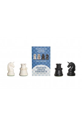 Fortress and Unicorn - Musketeer Chess Variant Kit - 4 Set - Black & Ivory