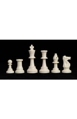 """Triple Weighted Regulation Plastic Chess Pieces - 3.75"""" King"""