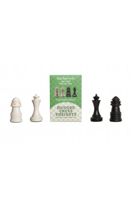 Dragon and Spider - Musketeer Chess Variant Kit - 4 Set - Black & Ivory