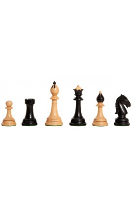 """The Reproduction of the Circa 1950s Ceske Klubovska Series Chess Pieces - 4.0"""" King"""