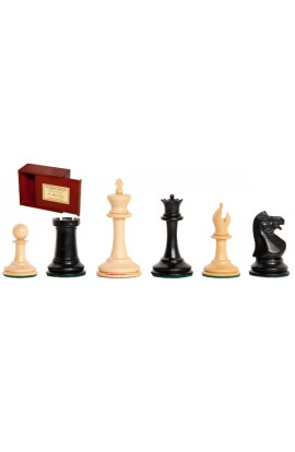 "The Anderssen Dropjaw Series Library Chess Pieces - 2.875"" King - Includes Free Slide-Top Box"