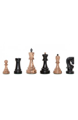 """The Exotique Collection® - The Zagreb Series Luxury Chess Pieces - 3.875"""" King - With Genuine Ebony"""