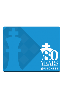 US Chess Federation 80th Anniversary - Mousepad - Blue