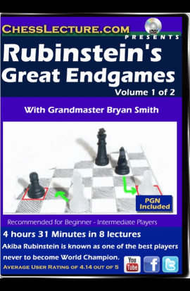 Rubinstein's Great Endgames - 2 DVDs - Chess Lecture - Volume 137
