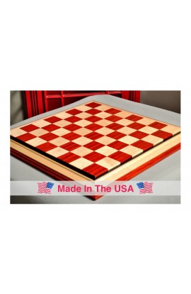 "Signature Contemporary III Luxury Chess board - PADAUK / BIRD'S EYE MAPLE - 2.5"" Squares"