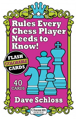 Colorable Flash Cards - Rules Every Chess Player Needs to Know