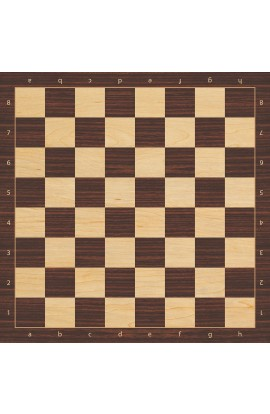 Indian Rosewood Chess Board - Full Color Vinyl Chess Board