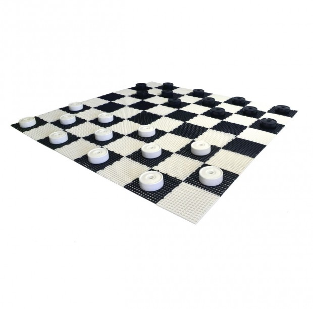 "Clearance - 4"" Giant Checkers Set - Includes Pieces and Board"