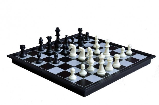 "10"" Magnetic Travel Chess & Checkers Set"