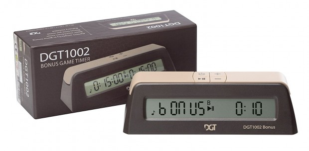 DGT 1002 Digital Chess Clock - Black