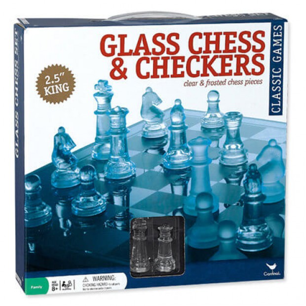 Glass Chess and Checkers Set