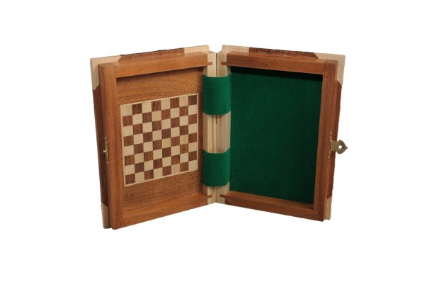 BOOK WOODEN MAGNETIC Travel Chess Set - SMALL