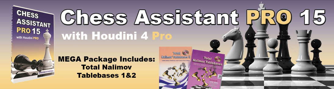 Chess Assistant PRO 15 with Houdini 4 Pro Chess Software