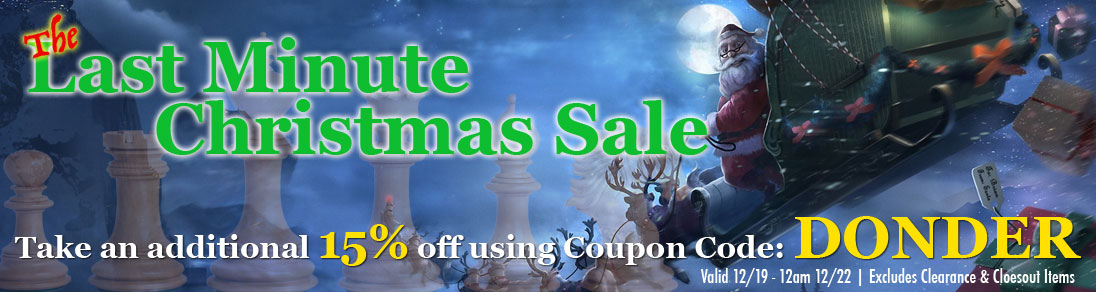 Christmas Blowout Sale! On Chess Sets, Chess Pieces, and more at USCF Sales!