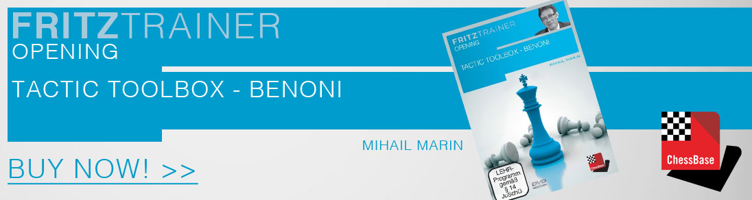 FRITZTRAINER Tactic toolbox - Benoni hosted by Mihail Marin now available at USCF Sales!