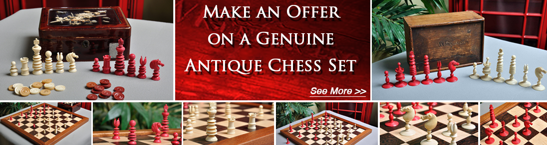 Make an offer on genuine antique chess sets today at USCF Sales!