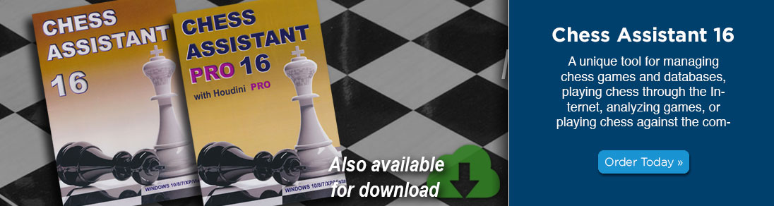 Manage and analyze chess games with the NEW Chess Assistant 16 now available at USCF Sales!