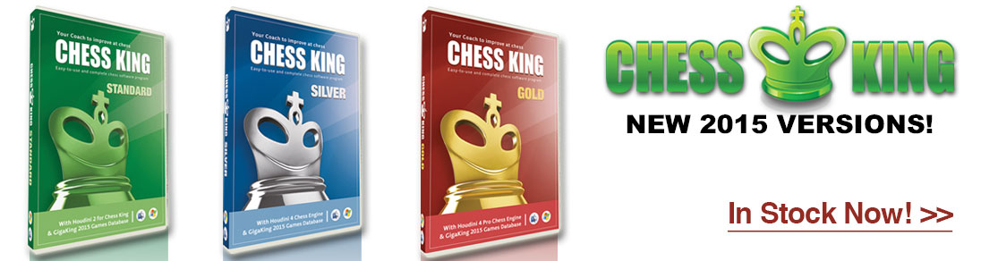The New 2015 version of Chess King Software are compatible with Windows and Mac. Order today at USCF Sales!