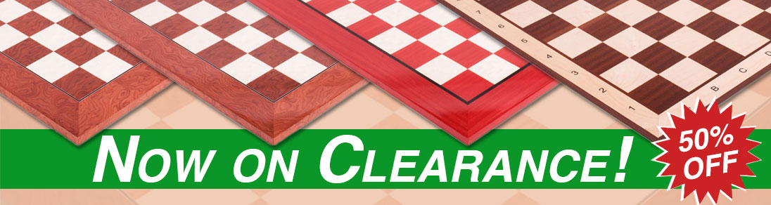 Save 50% off of these boards and other clearance items at USCF Sales!