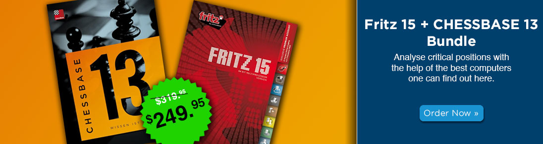 Save when you order the Fritz 15 + CHESSBASE 13 Bundle at USCF Sales!
