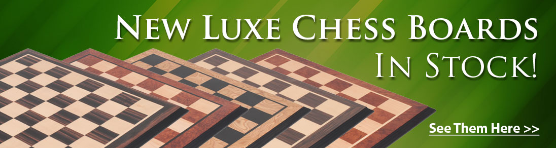 New Luxe Traditional Chess Boards now available at USCF Sales!