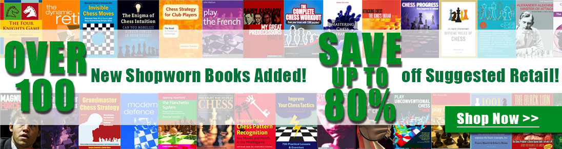 Over 100 New Shopworn Books Added! Save up to 80% off suggested retail at USCF Sales!
