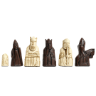 """The Isle of Lewis Chess Pieces - 3.5"""" King - BROWN and NATURAL"""
