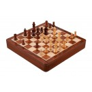 """WOODEN MAGNETIC Travel Chess Set - 12"""" Square with Drawer"""