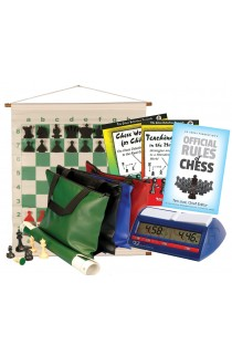 Scholastic Chess Club Starter Kit - For 10 Members - With DGT North American Chess Clocks
