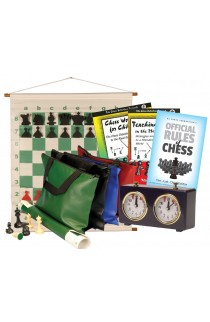 Scholastic Chess Club Starter Kit - For 10 Members - With Regulation Mechanical Clocks